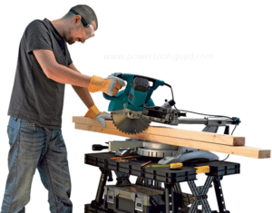 working with miter saw