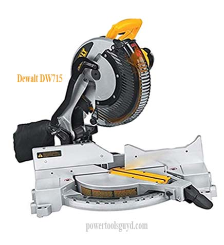 Dewalt DW715 review, compound corded miter saw