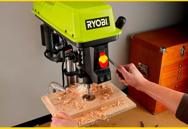 work with drill press