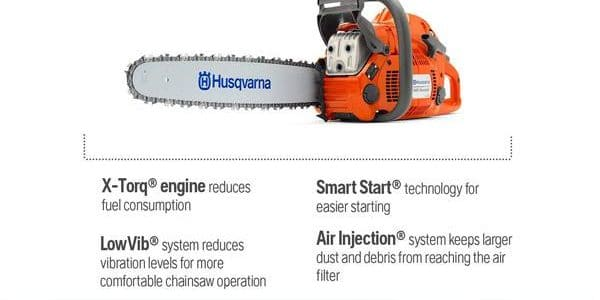 Husqvarna 120 review, 60.3 cc and 3.62 HP chainsaw