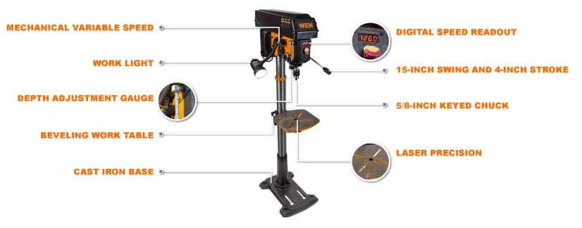 drill press uses with parts