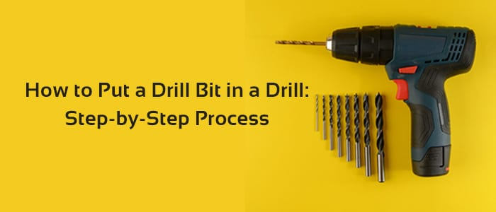 How to put a drill bit in a drill