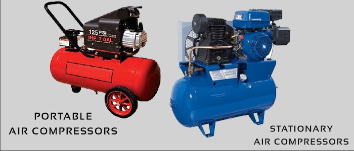 Portable vs. Stationary Air Compressors| the Ultimate Guide